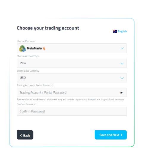 FP Markets complete registration