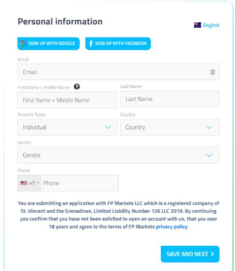 How to register at FP Markets