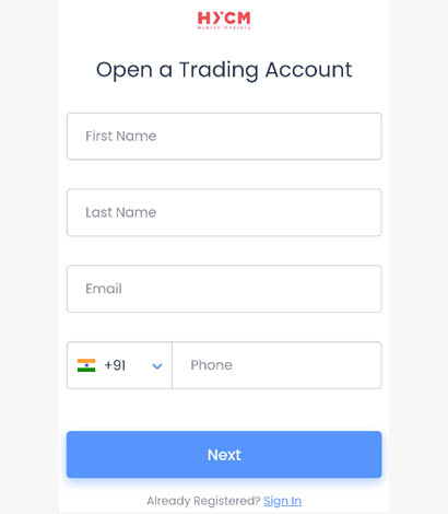 How to register at HYCM forex broker