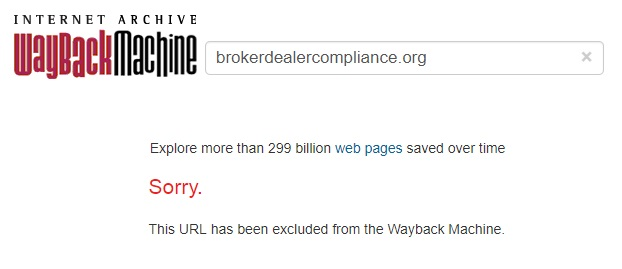 BrokerDealerCompliance.org - Archive.org